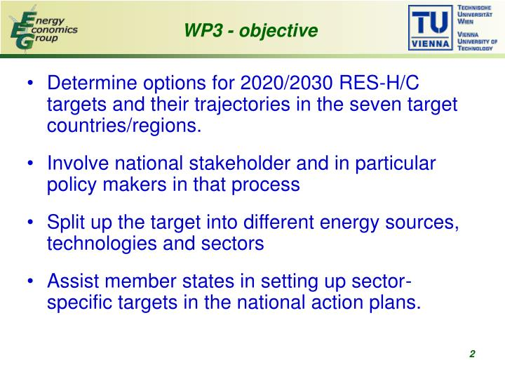 WP3 - objective