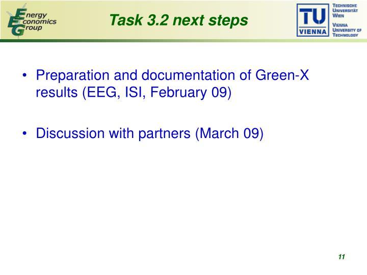 Task 3.2 next steps