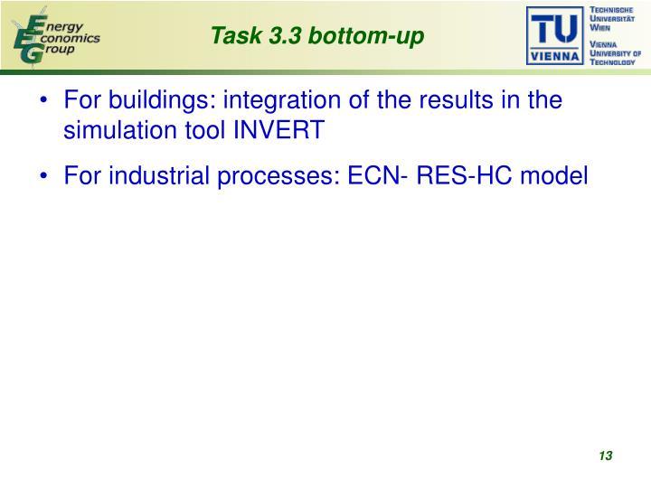 Task 3.3 bottom-up
