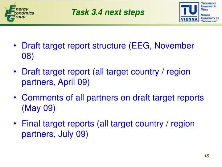 Task 3.4 next steps