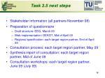 task 3 5 next steps