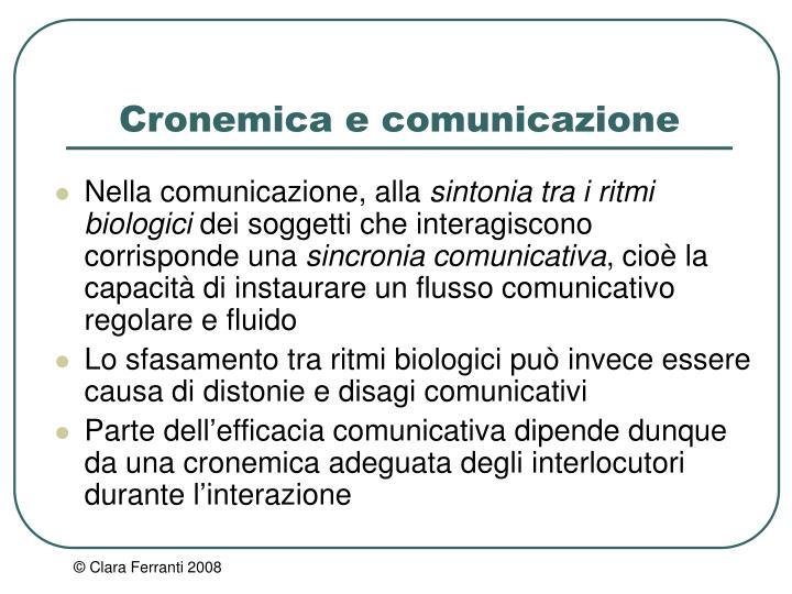 Cronemica e comunicazione