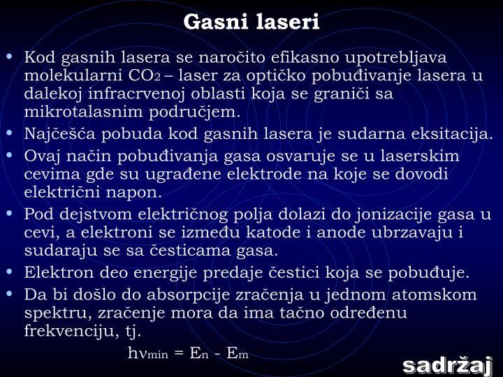 Gasni laseri