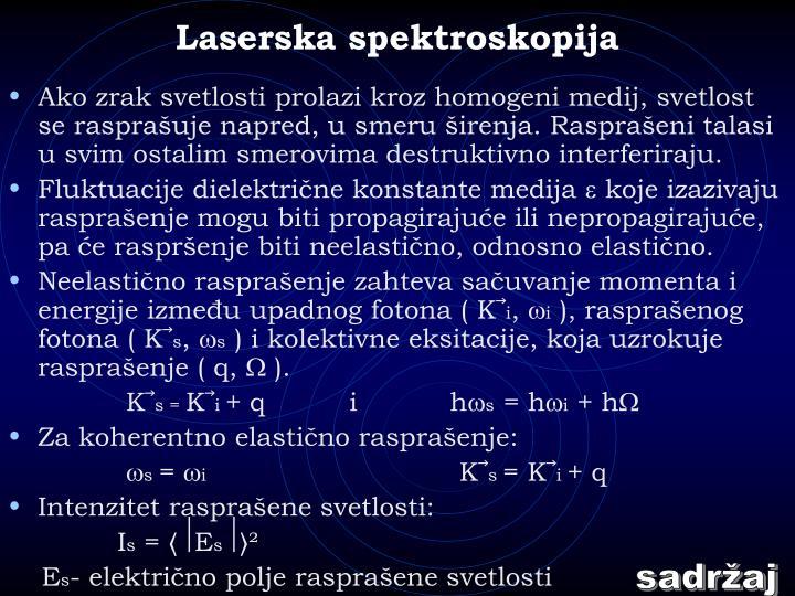 Laserska spektroskopija