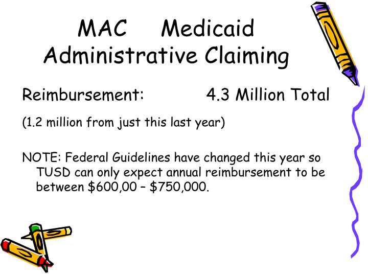 MAC     Medicaid Administrative Claiming
