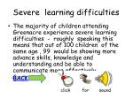 severe learning difficulties