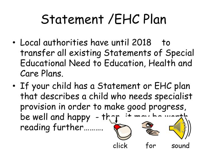 Statement /EHC Plan