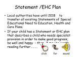 statement ehc plan