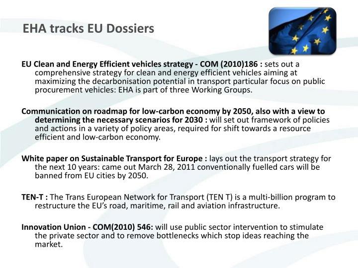 EHA tracks EU Dossiers