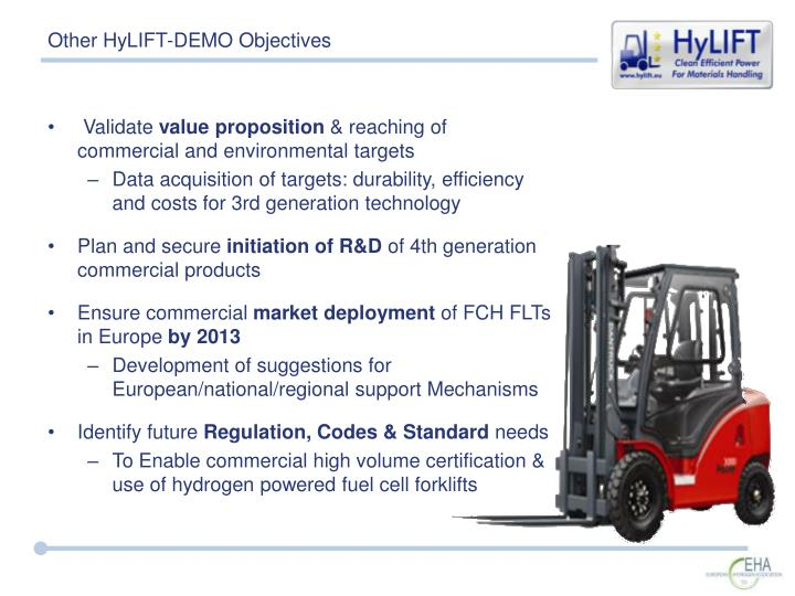 Other HyLIFT-DEMO Objectives