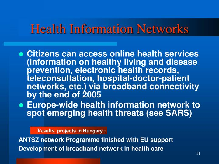 Health Information Networks