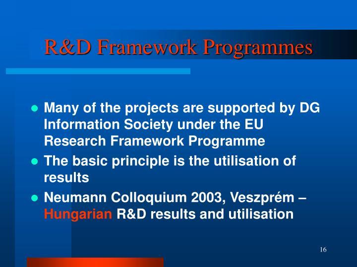 R&D Framework Programmes
