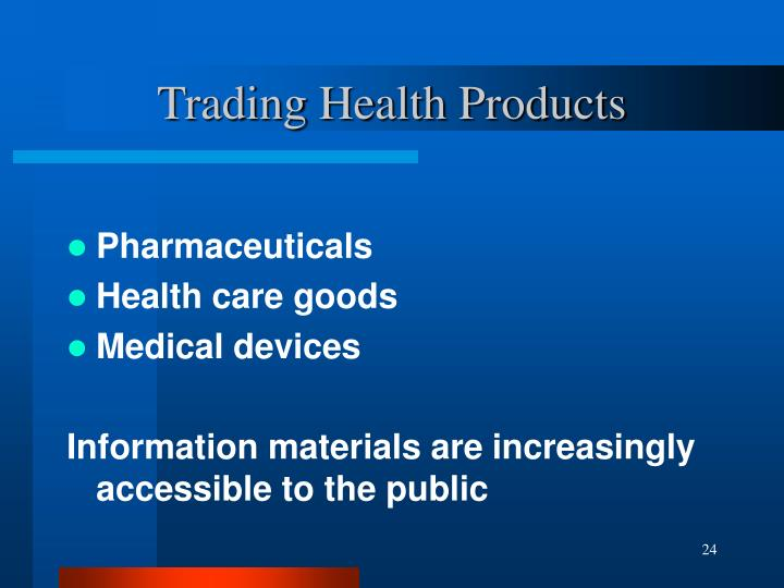Trading Health Products