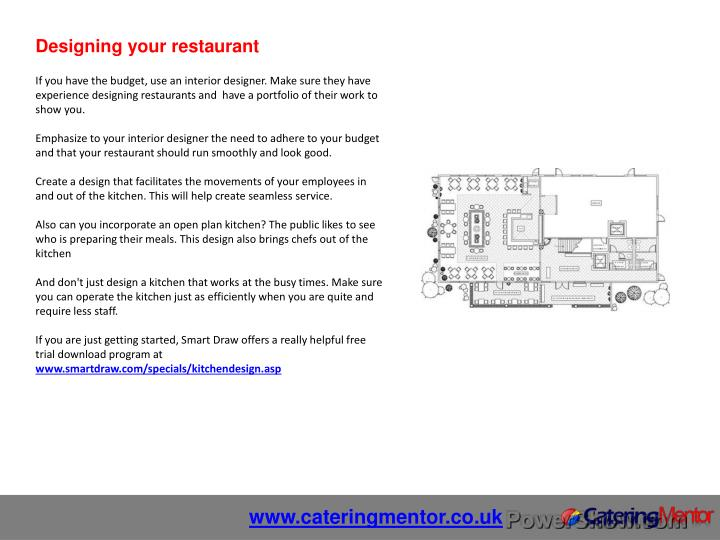 Designing your restaurant