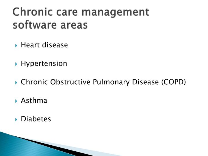Chronic care management software areas