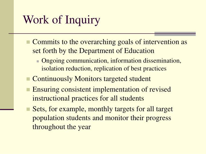 Work of Inquiry