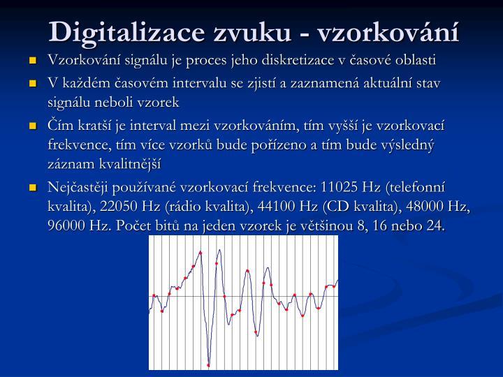 Digitalizace zvuku - vzorkování
