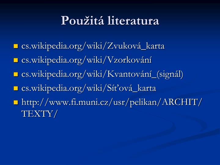 Použitá literatura