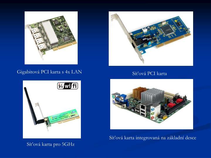Gigabitová PCI karta s 4x LAN