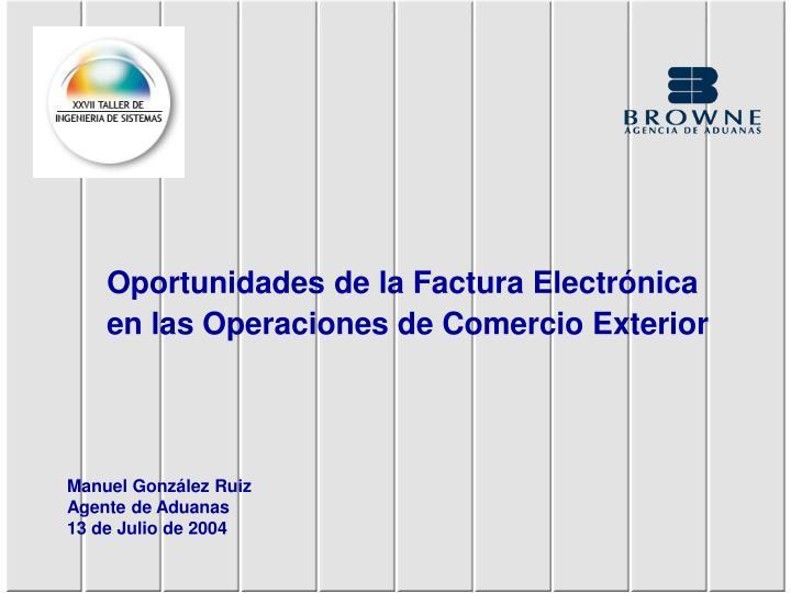Oportunidades de la Factura Electrónica
