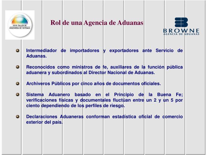 Rol de una Agencia de Aduanas