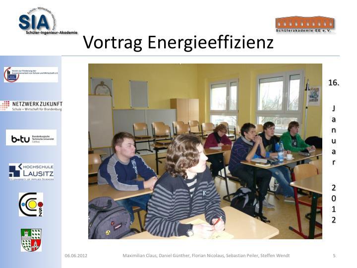 Vortrag Energieeffizienz