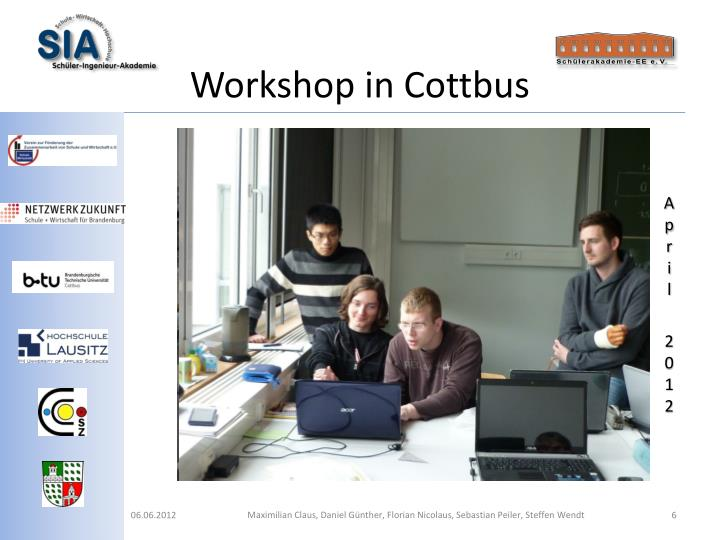 Workshop in Cottbus