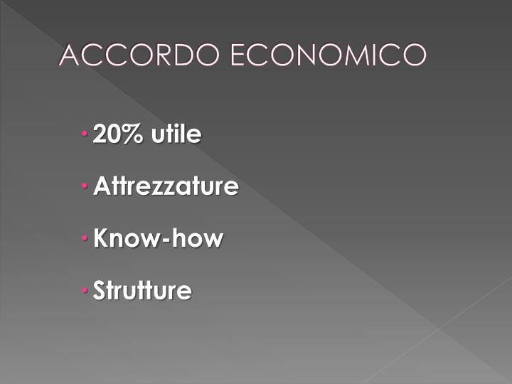 ACCORDO ECONOMICO