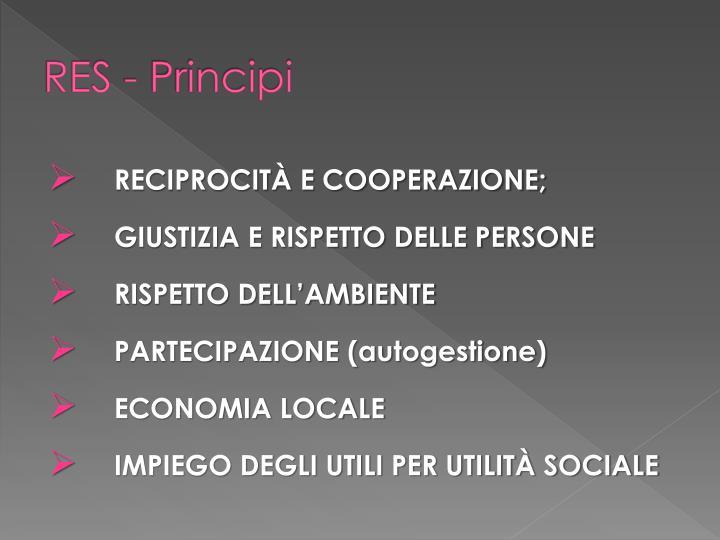 RES - Principi