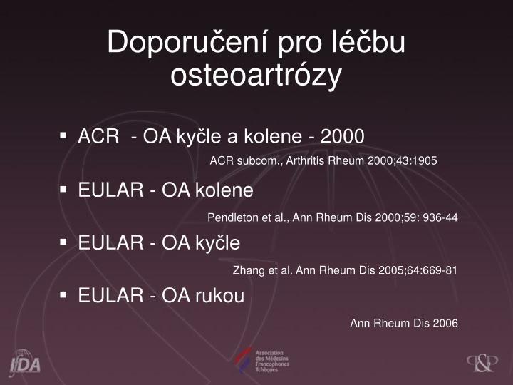 Doporuen pro lbu osteoartrzy
