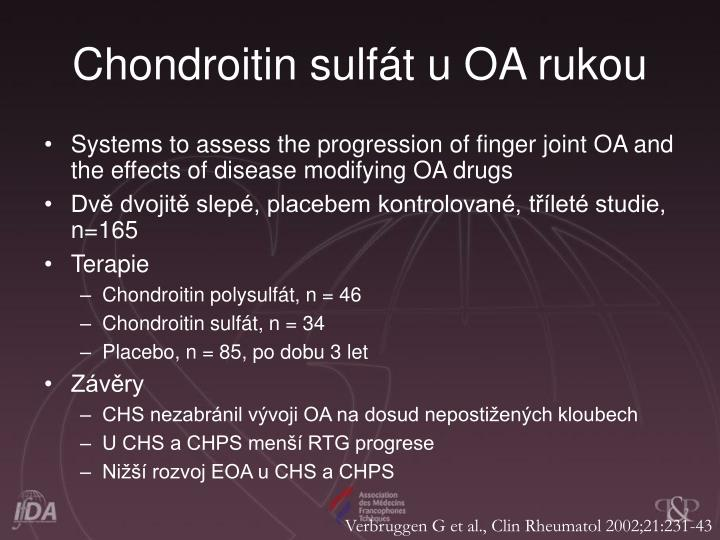 Chondroitin sulft u OA rukou