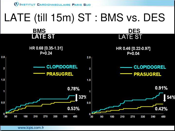 LATE (till 15m) ST : BMS vs. DES