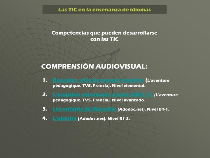Las TIC en la enseñanza de idiomas