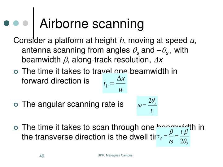 Airborne scanning
