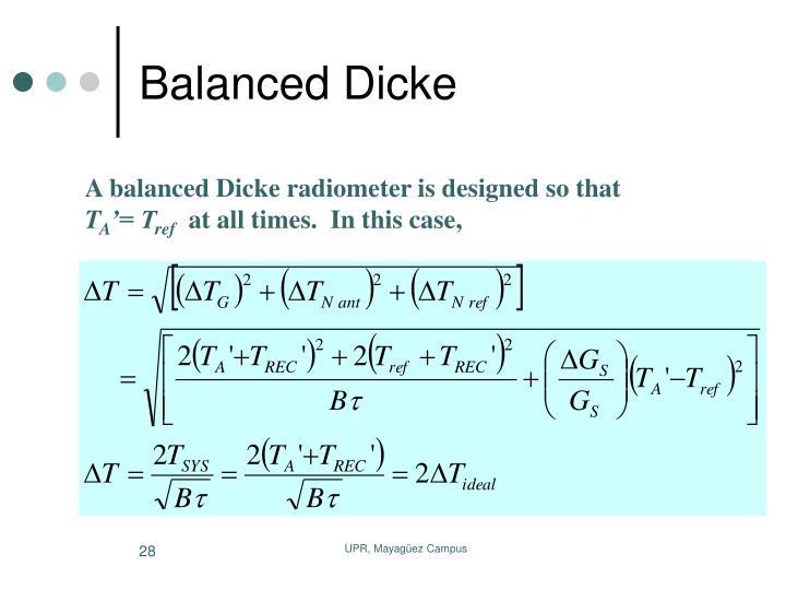 Balanced Dicke