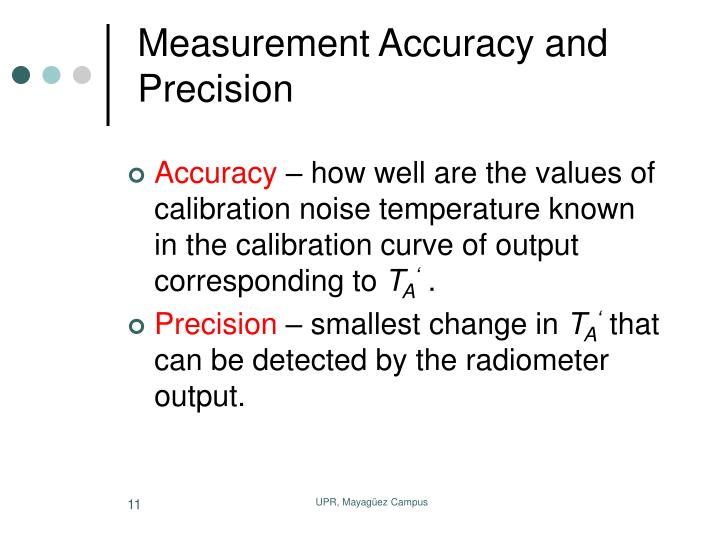 Measurement Accuracy and Precision
