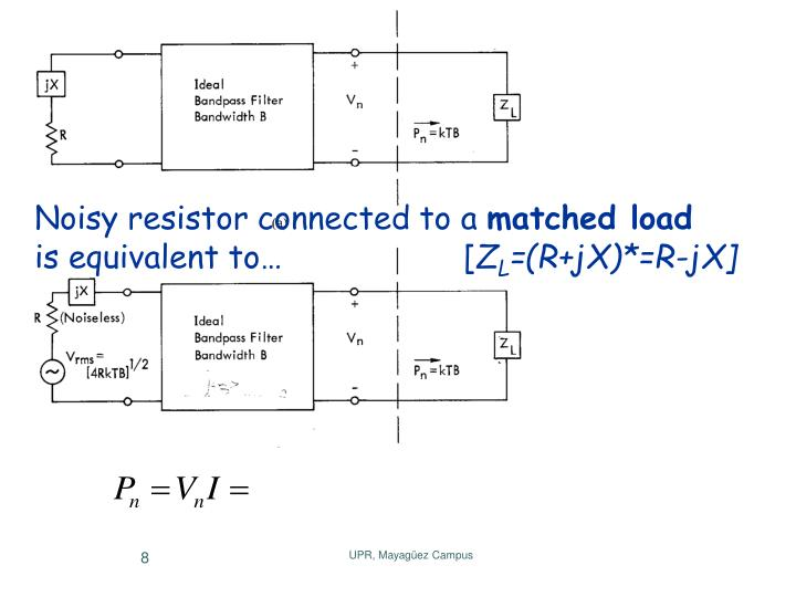 Noisy resistor connected to a