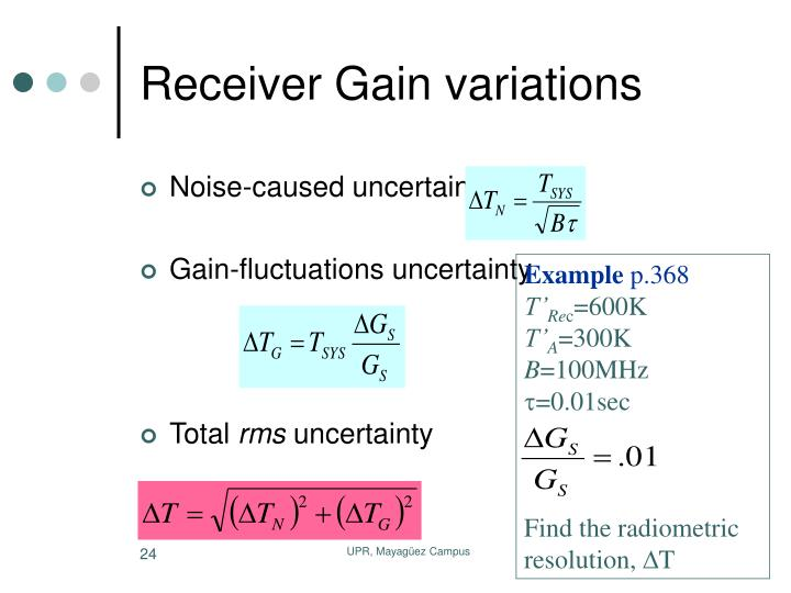 Receiver Gain variations