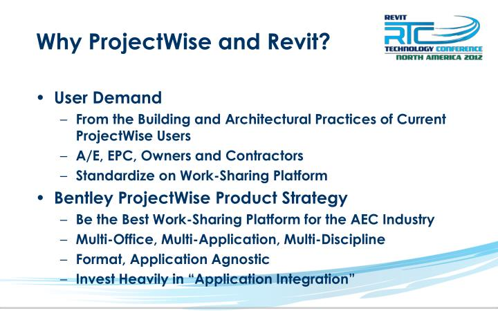 Why ProjectWise and Revit?
