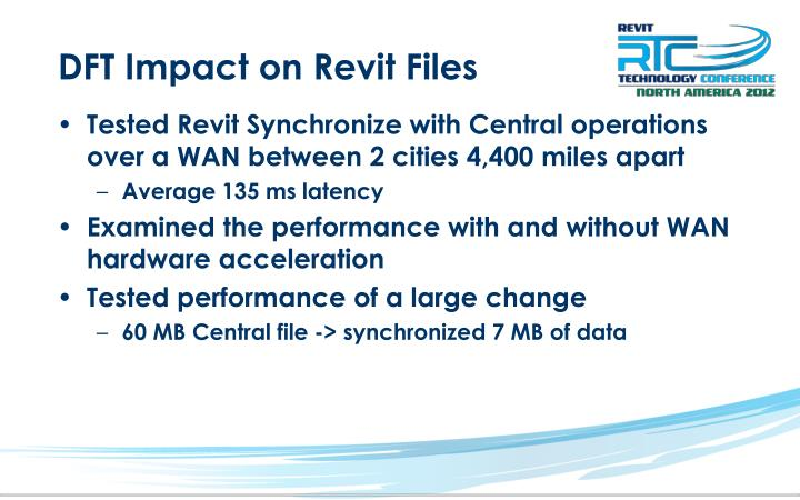 DFT Impact on Revit Files