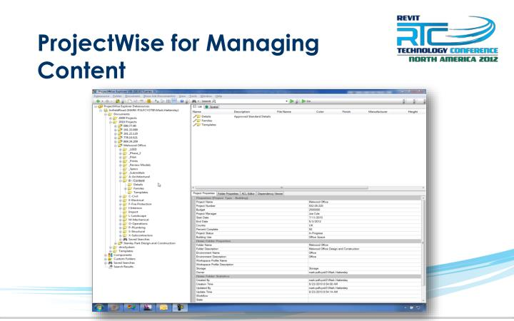 ProjectWise for Managing Content
