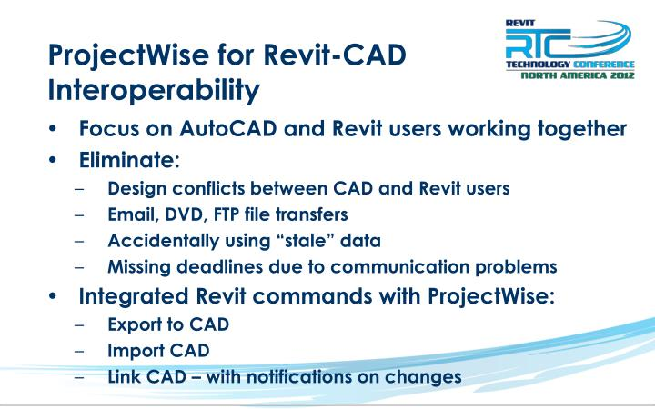 ProjectWise for Revit-CAD Interoperability