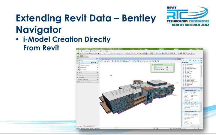 Extending Revit Data – Bentley Navigator