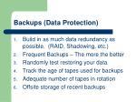 backups data protection