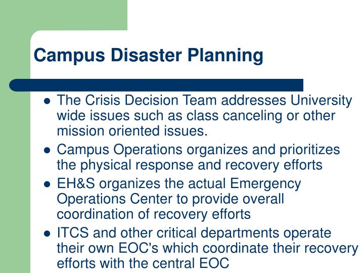 Campus Disaster Planning
