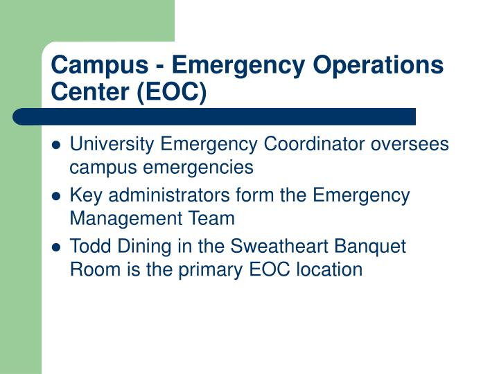 Campus - Emergency Operations Center (EOC)