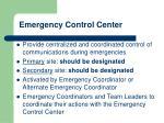 emergency control center