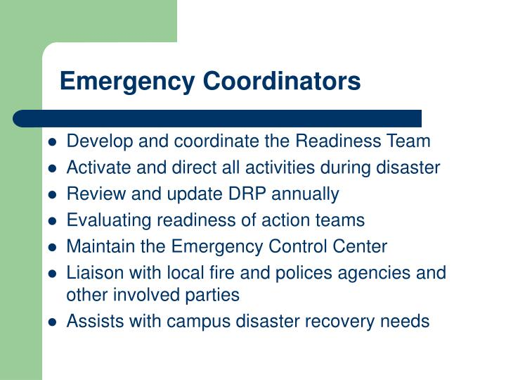 Emergency Coordinators