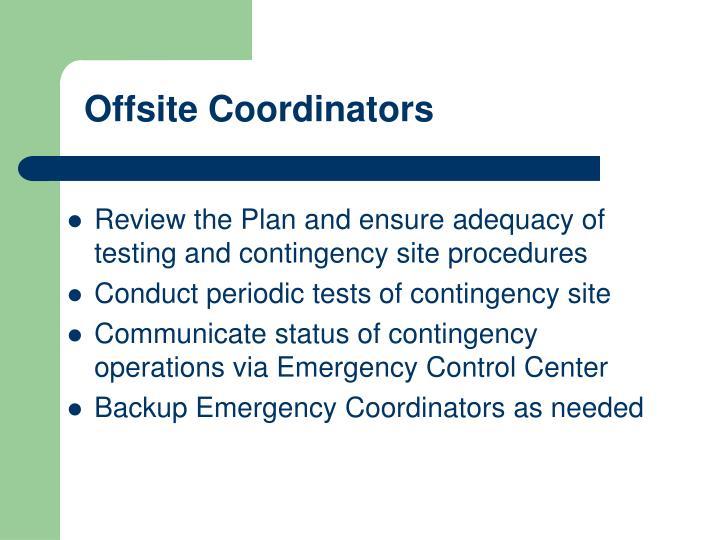 Offsite Coordinators