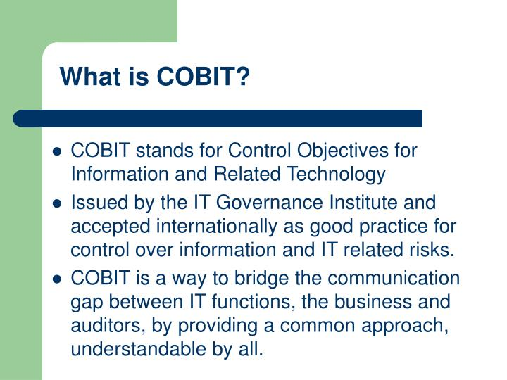 What is COBIT?